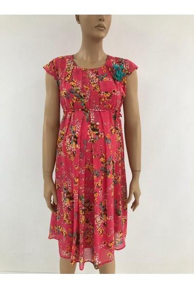 Trendy Hamile Şifon Elbise