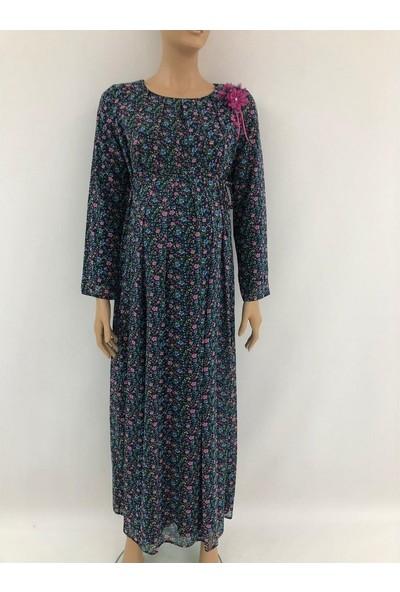 Trendy Hamile Tesettür Şifon Elbise