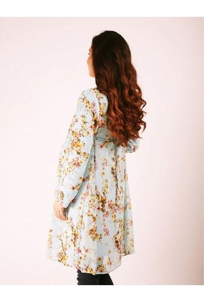 Trendy1717 Şifon Hamile Elbise