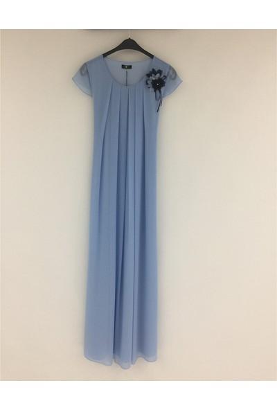Trendy Hamile Uzun Abiye Elbise