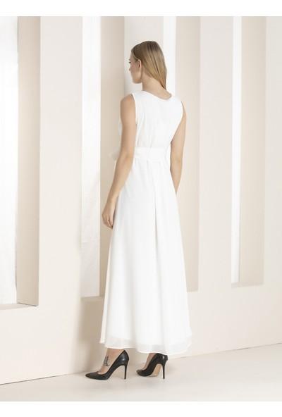 Görsin Uzun Şifon Hamile Abiye Elbise