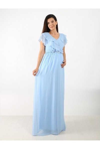 Entarim Baby Shower Şifon Elbise