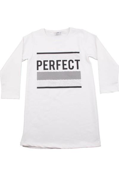 Nnk Perfect Baskılı Beyaz Elbise