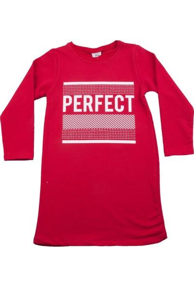 Nnk Perfect Desenli Kırmızı Elbise