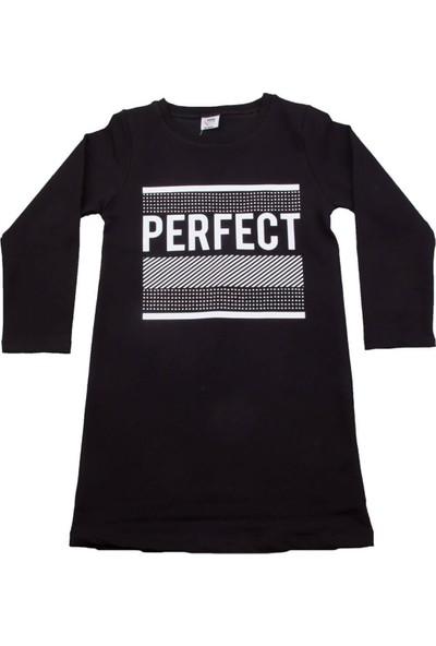 Nnk Perfect Desenli Siyah Elbise