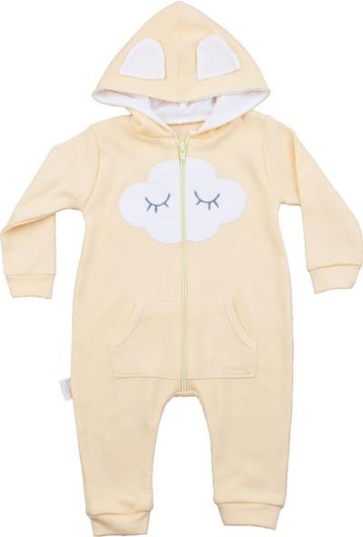 Murat Baby Bulutlu Kapüşonlu Sarı Tulum