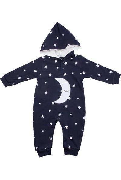 Murat Baby Ay Yıldız Kapüşonlu Lacivert Tulum
