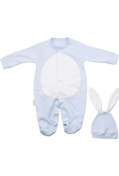 Murat Baby Tavşan Şapkalı Mavi Tulum