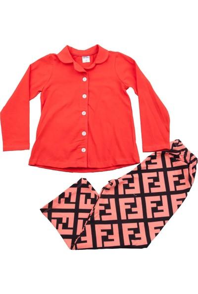 Fuar Baby Desensiz Turuncu Pijama Takımı