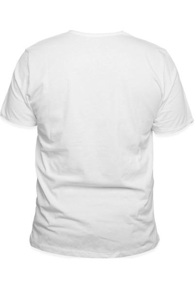 Kanduras Düz Ile Akışkan Erkek T-Shirt
