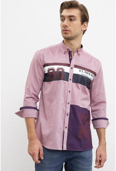 U.S. Polo Assn. Erkek Dokuma Gömlek 50208305-VR014