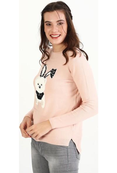 Pua Fashion Ayıcıklı Triko Kadın Kazak