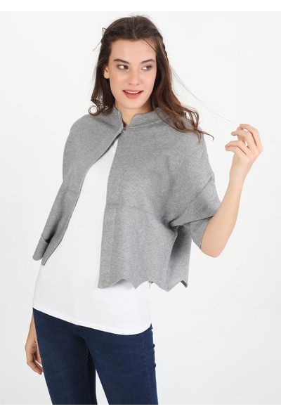 Pua Fashion Yarasa Kollu Tek Düğme Kadın Hırka