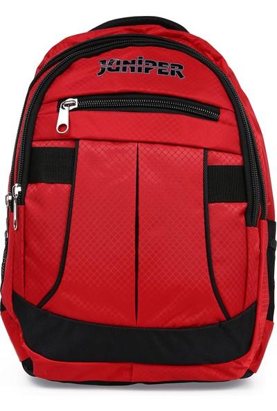 Juniper Zerin Kırmızı Unisex Okul ve Seyahat Çantası