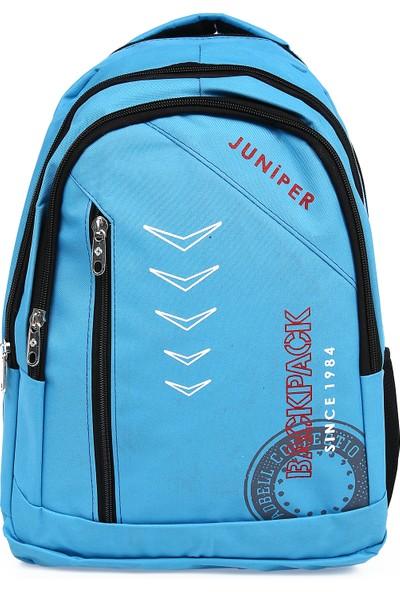 Juniper Zerin Mavi Unisex Okul ve Seyahat Çantası