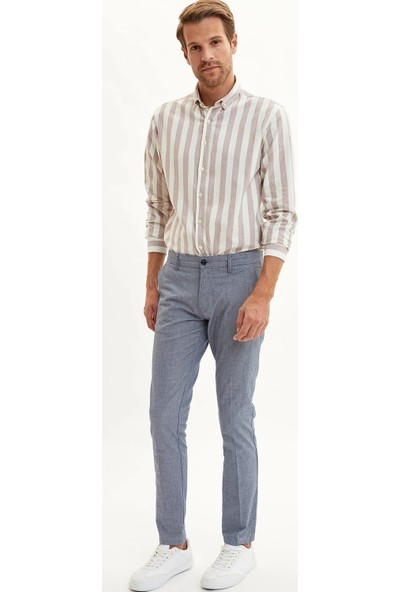 Defacto Erkek Çizgili Modern Fit Gömlek