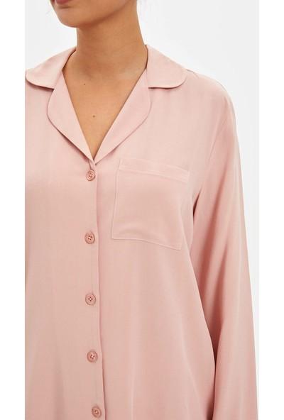 Defacto Kadın Dokuma Pijama Takımı