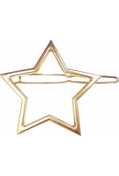 Newobsessions Altın Star Shape Klipsli Toka