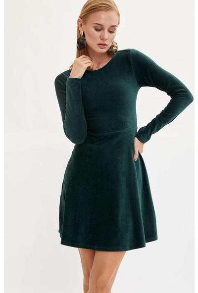 Defacto Kadın Slim Fit Uzun Kollu Elbise