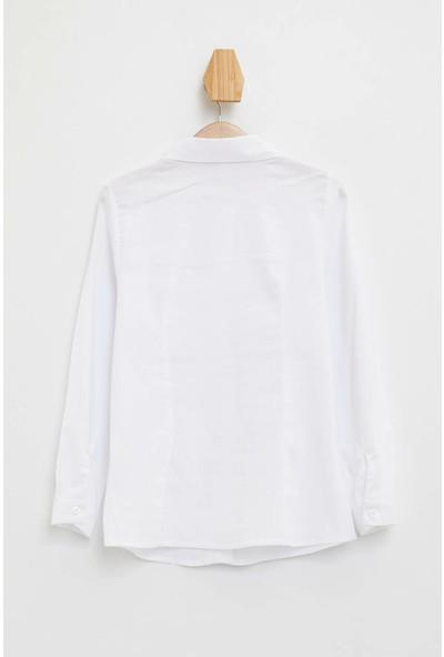 Defacto Kız Çocuk Uzun Kollu Gömlek
