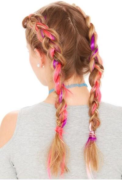 Newobsessions Fosforlu Pembe Çıtçıtlı Saç 2'li