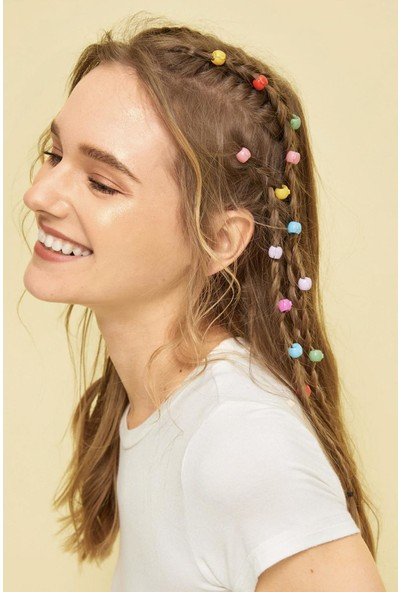 Newobsessions Renkli Saç Boncuğu