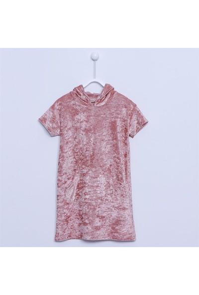Silversun Kız Çocuk Kapşonlu Elbise - EK-312794