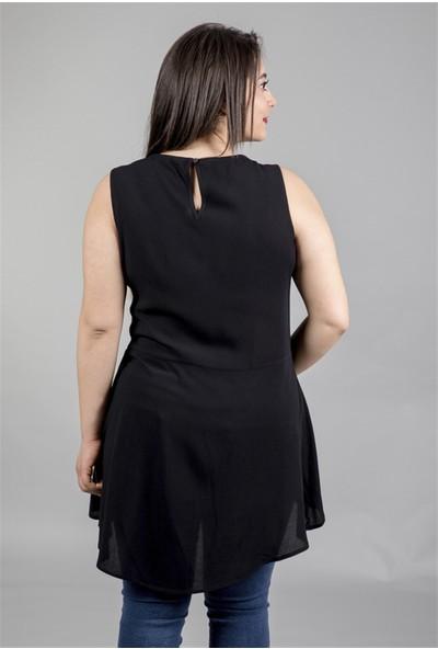 Myline Belden Detaylı Uzun Bluz