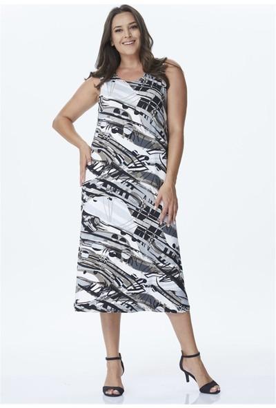 Myline Uzun Örme Arka Detaylı Elbise