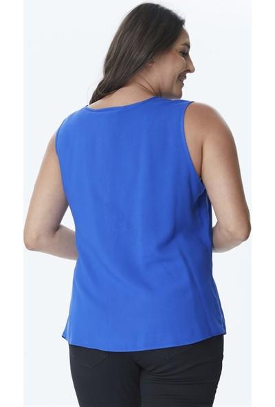 Myline İnci Detaylı Kolsuz Bluz