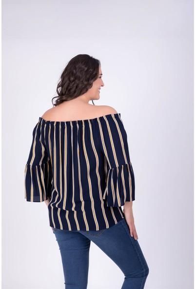 Myline Düşük Omuzlu Bluz