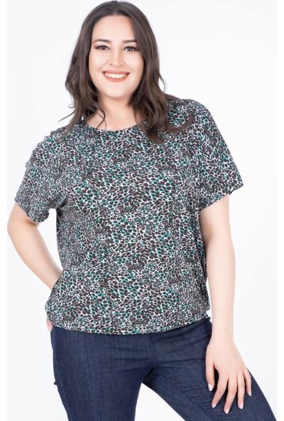 Myline Düşük Kol Rahat T-Shirt
