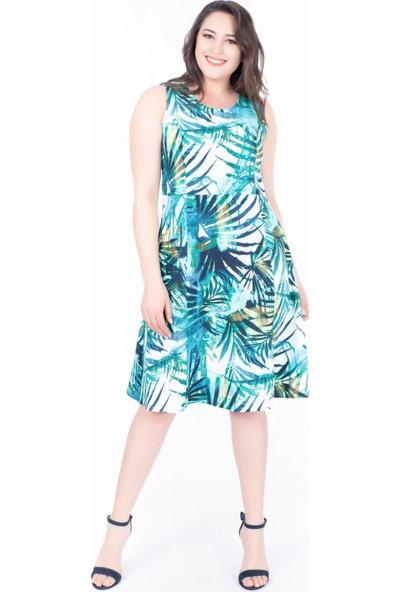 Myline Desenli Elbise