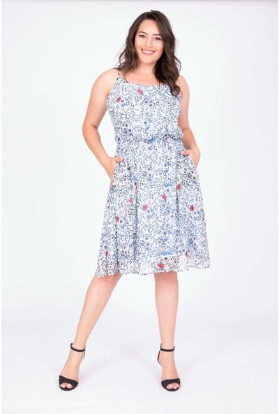 Myline İp Askılı Beli Lastikli Elbise