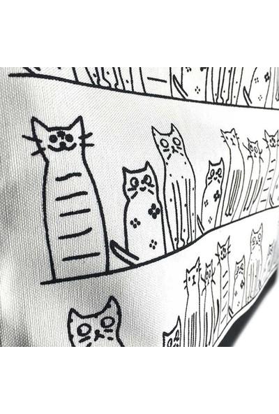 Hediye-ci Kedi Desenli Kadın Çanta