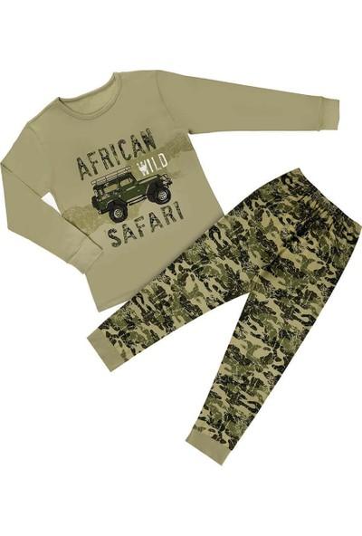 Doni African Safari Baskılı Erkek Çocuk Pijama