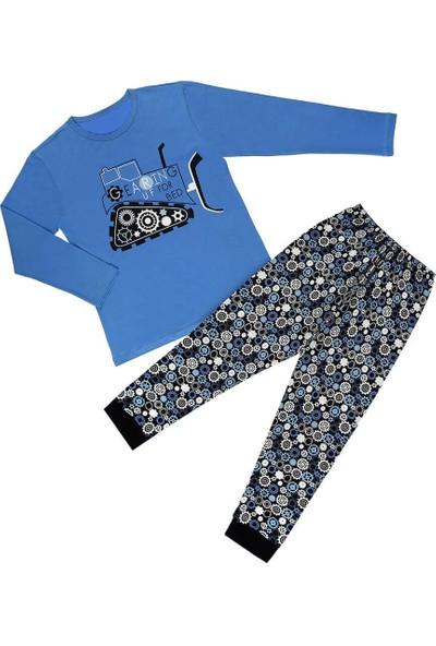 Doni Çark Baskılı Erkek Çocuk Pijama