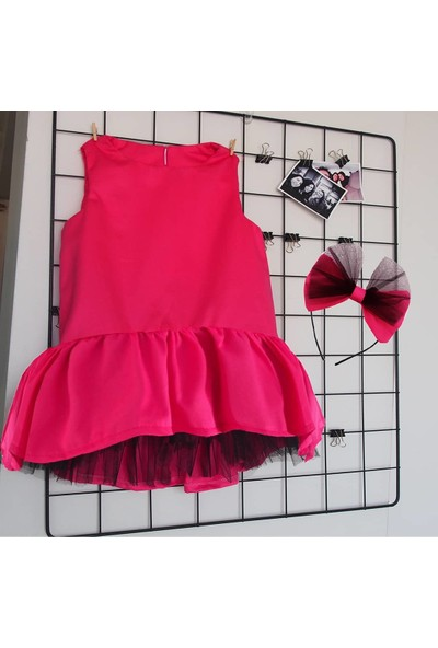 Shecco Babba Kız Çocuk Tütü Elbise Fuşya 1-4 Yaş