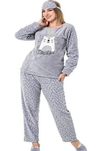 Pijama Evi Beautiful Desenli Kadın Peluş Pijama Takımı
