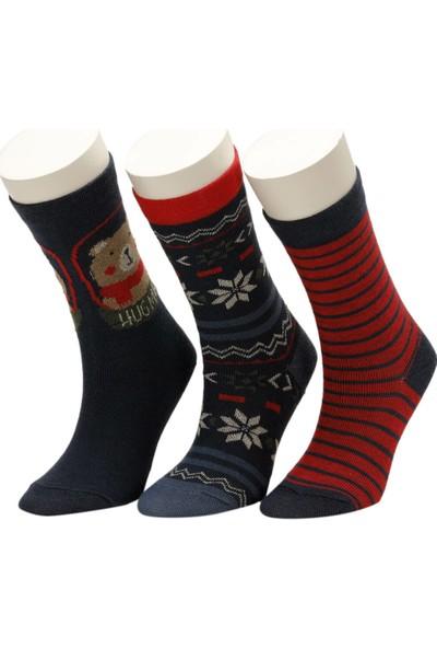 I Cool Beary 3 Lu Skt-B Lacivert Erkek Çocuk Soket Çorap
