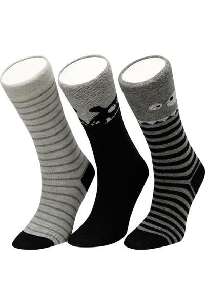 I Cool Funny 3 Lu Skt-B Siyah Erkek Çocuk Soket Çorap