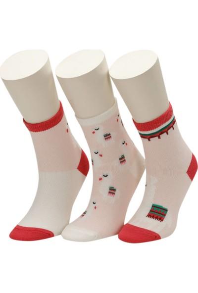 I Cool Lama 3 Lu Skt-G Pembe Multı Kız Çocuk Soket Çorap