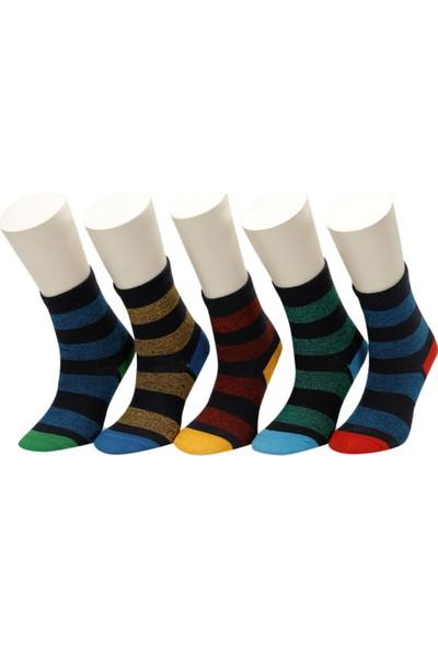 I Cool Ron 5 Lı Skt-B Mavı Multı Erkek Çocuk Soket Çorap
