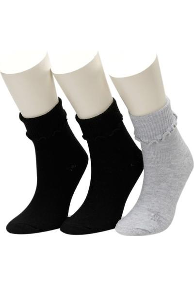 i Cool Sch 3 Lu Skt-G Gri Multi Kiz Çocuk Soket Çorap