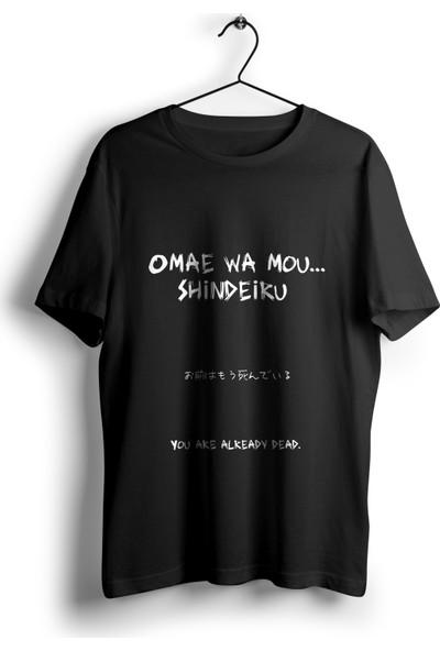Omae Wa Mou Shindeiru Siyah Unisex Anime T-Shirt
