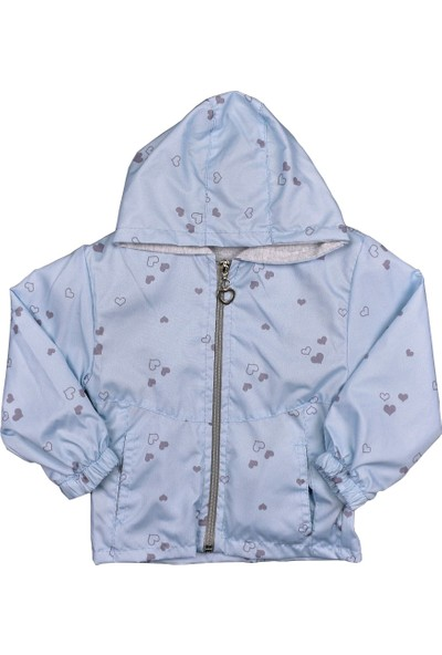 Maibella Kız Çocuk Kapüşonlu Yağmurluk Kalp 1-4 Yaş
