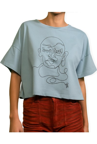 Kanduras Buda Oversize Crop T-Shirt