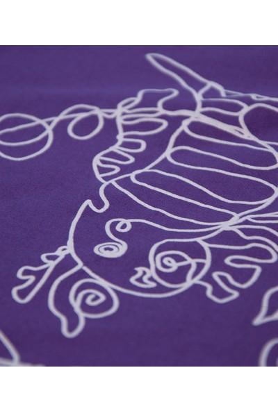 Kanduras Balık Göz Oversize Crop T-Shirt