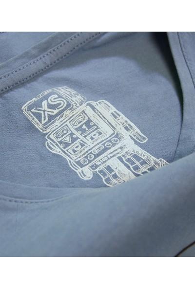 Kanduras Yüzsüz Oversize Crop T-Shirt
