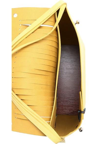 Mitta Sarı Deri Kadın Çantası